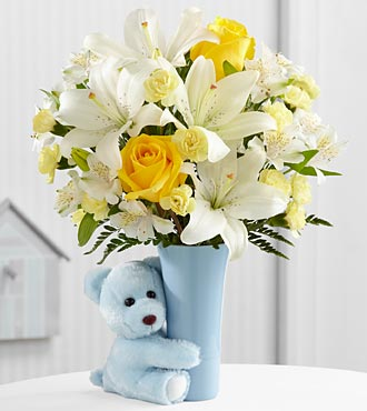 FTD Baby Boy Big Hug Bouquet - DELUXE