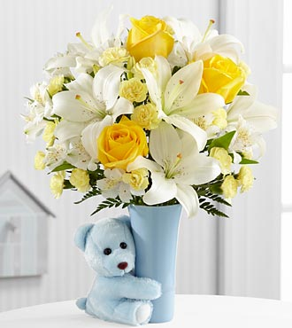 FTD Baby Boy Big Hug Bouquet - PREMIUM
