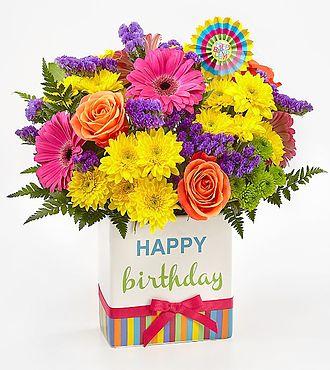 ftd birthday brights FTD Birthday Brights Bouquet   PREMIUM   Same Day Delivery  ftd birthday brights
