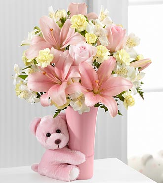 FTD Baby Girl Big Hug Bouquet - DELUXE