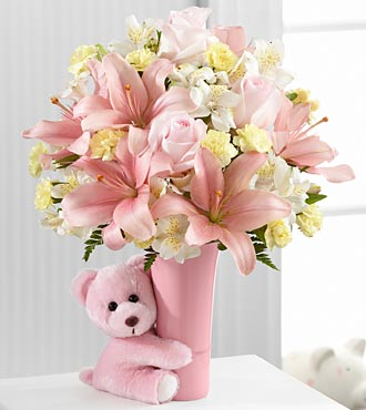 FTD Baby Girl Big Hug Bouquet - PREMIUM