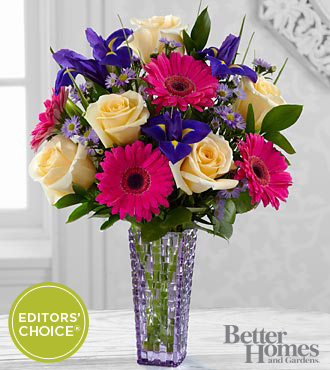 FTD Hello Happiness Bouquet by Better Homes and Gardens - DELUXE