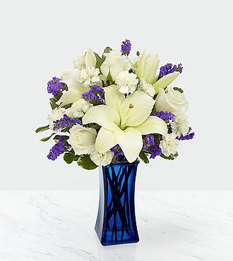 Beyond Blue Bouquet - Blue and White - CDB