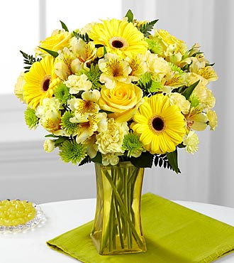 FTD Lemon Groove Bouquet - PREMIUM