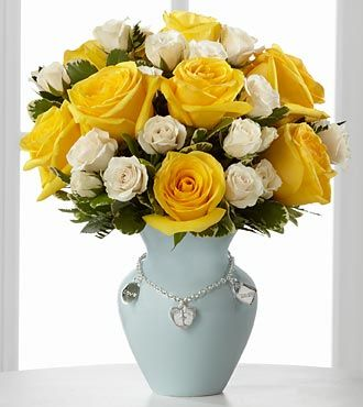 FTD New Mothers Charm Rose Bouquet - Boy - DELUXE