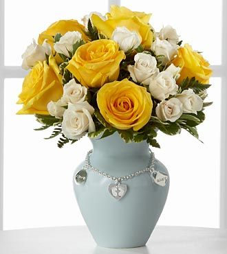 FTD New Mothers Charm Rose Bouquet - Boy