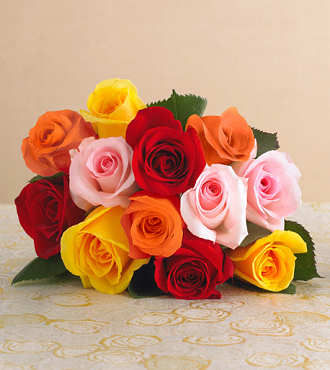 Silk Flower Bouquets on Sweetheart Mixed Rose Bouquet With Vase   Fedex   Roses   Flowers Fast