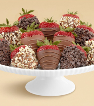 Full Dozen Hand-Dipped Milk and Dark Strawberries - FedEx