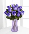 Popping Purple Fiesta Rose Bouquet - 12