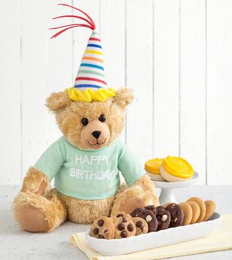 http://www.FlowersFast.com - Mrs. Fields Happy Birthday Bear – FedEx
