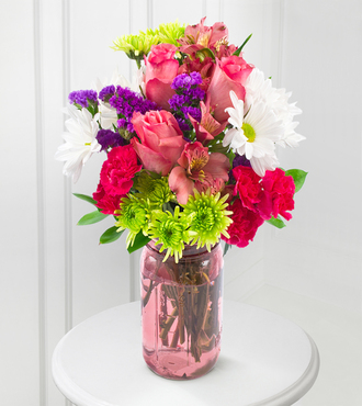 Pink Happy Bouquet - FedEx - WGF105