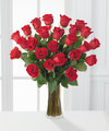 Image of 2 Dozen Red Roses with Vase - FedEx