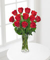 Image of Standard version for Premium Red Rose Bouquet with Vase - 12 Stems - FedEx