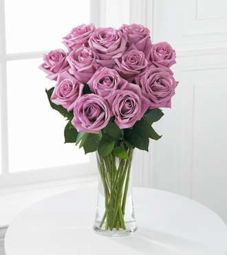 Lavender Rose Bouquet - 12 Stems of 20-inch Roses - FedEx