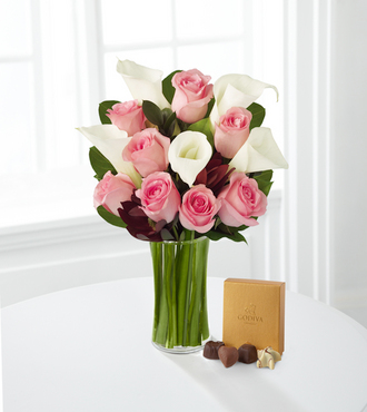 Fabled Beauty Bouquet with Godiva Chocolate - FedEx