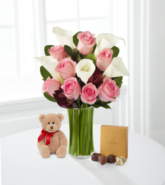 Fabled Beauty with Bear and Godiva - FedEx