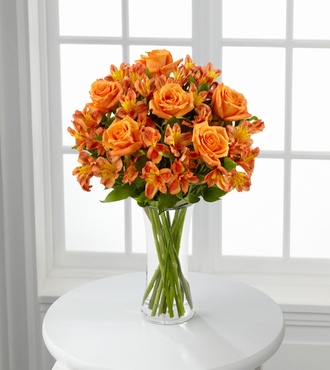 Orange Burst with Vase - FedEx