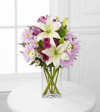 Lavender Fields Mixed Flower Bouquet - FedEx - WGFK376
