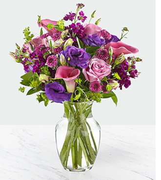 Love out Loud Bouquet w-vase - FedEx