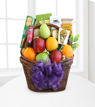 Fruitful Greetings Gourmet Basket - Deluxe - FedEx