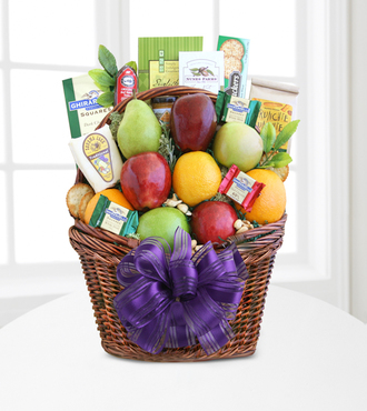 Fruitful Greetings Gourmet Gift Basket - FedEx - WGG181