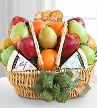Farmers Market Fruit and Cheese Basket - FedEx - WGG370
