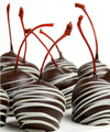 Chocolate Dip Delights Real Chocolate Covered Maraschino Cherries - 24 pieces - FedEx