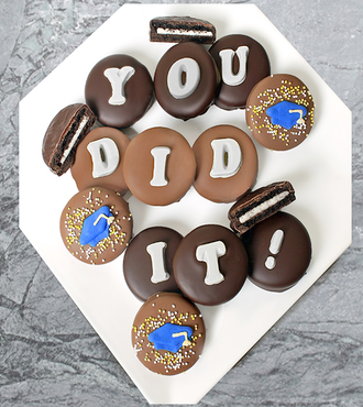 Chocolate Dipped You Did It Graduation Oreo Cookies - FedEx
