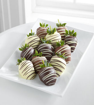 Golden Edibles Classic Belgian Chocolate Covered Strawberries - Single Dipped - FedEx