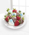 Chocolate Dip Delights Berry Patriotic Real Chocolate Covered Strawberries - 12-piece - FedEx