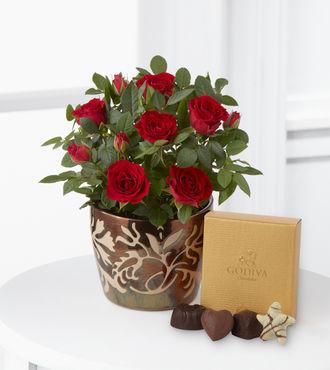 Rosy Riches Mini Rose and Godiva Chocolates - FedEx