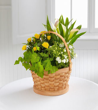 FTD Cheerful Wishes Blooming Basket - FedEx