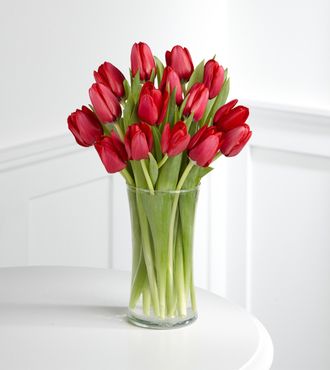 Red Carpet Ready Tulip Bouquet - 15 Stems - FedEx