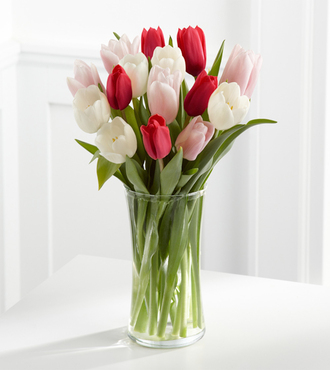 Here in My Heart Tulip Bouquet - 15 Stems - FedEx