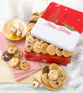 Mrs. Field's Holiday Cookie tin - 60 Nibblers - FedEx