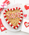 Image of Standard version for Mrs. Fields Heart Shaped Cookie Cake - FedEx