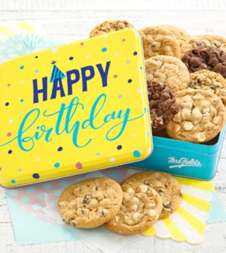 http://www.FlowersFast.com - Happy Birthday Cookie Tin – FedEx