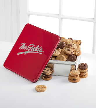 Mrs. Fields Classic Tin with 48 Assorted Nibblers - FedEx