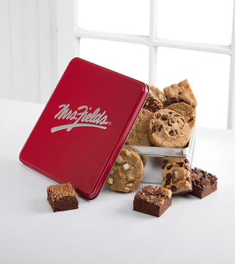 Mrs. Fields Classic Tin with Brownie and Cookie Assortment - FedEx - WGX950
