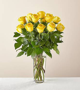 Long Stem Yellow Rose Bouquet - E5436