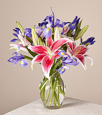 Belle of the Ball Bouquet with Vase - FedEx
