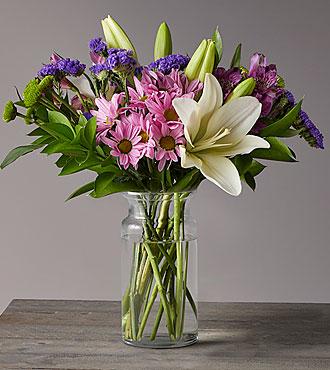 Flowers Fast coupon: Lavender Fields Mixed Flower Bouquet - FedEx