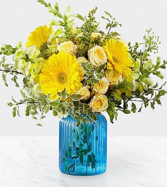 FTD Something Blue Bouquet by Better Homes and Gardens - DELUXE