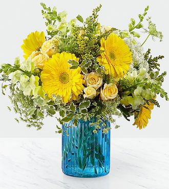 FTD Something Blue Bouquet by Better Homes and Gardens - PREMIUM