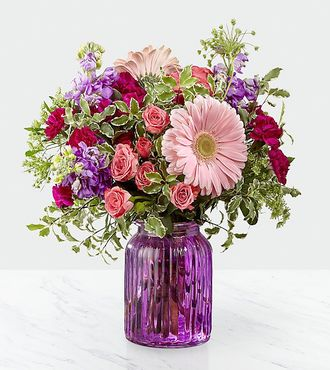 FTD Purple Prose Bouquet by Better Homes and Gardens - DELUXE