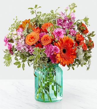 FTD Aqua Escape Bouquet by Better Homes and Gardens - DELUXE