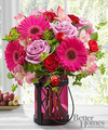 Image of Deluxe version for FTD Pink Exuberance Bouquet by Better Homes and Gardens
