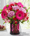 Image of Premium version for FTD Pink Exuberance Bouquet by Better Homes and Gardens