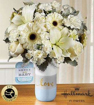 FTD Sweet Baby Boy Bouquet by Hallmark - PREMIUM