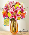 Image of Deluxe version for FTD You Did It Bouquet by Hallmark